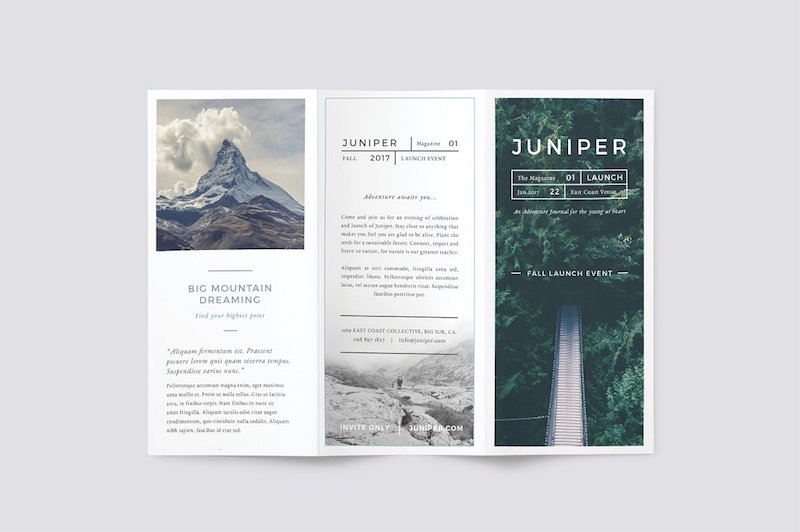 25 Tri-fold Brochure Templates - PSD, AI  INDD (Free  Premium - trifold indesign template
