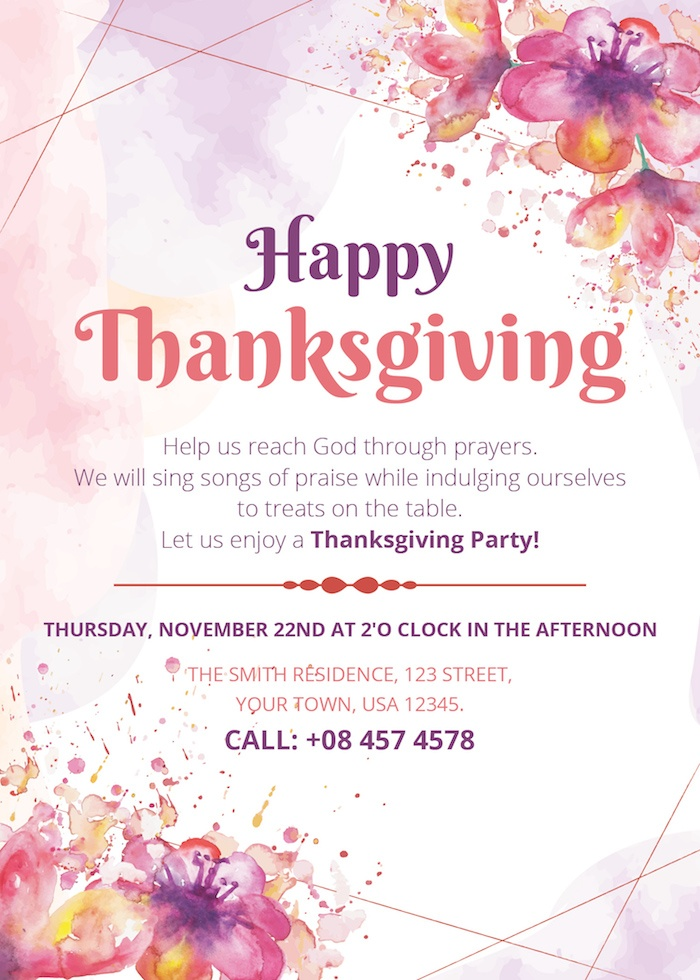 Free Thanksgiving Party Invitation PSD Templates - Super Dev Resources