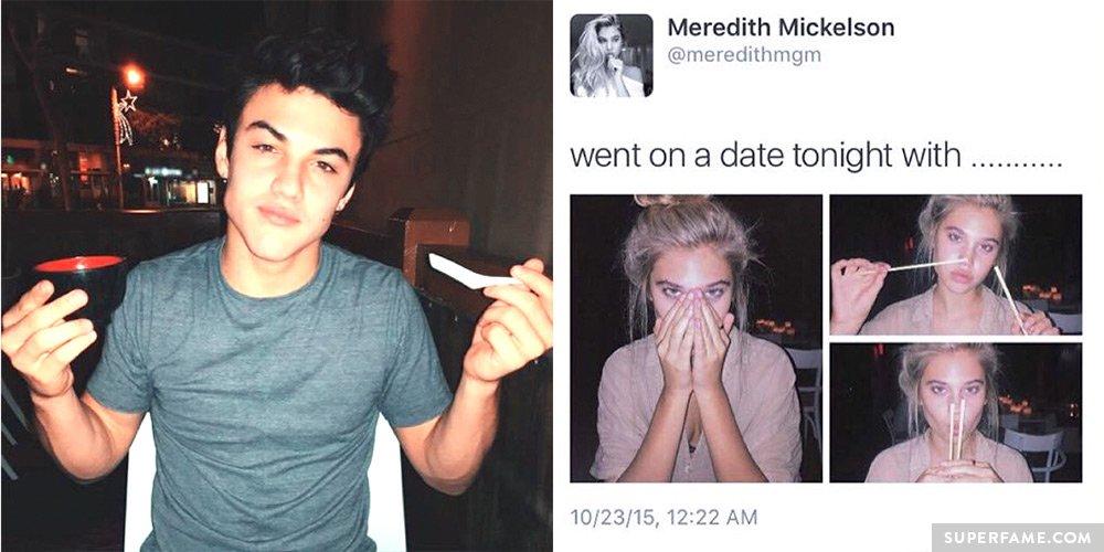 Romantic Lip Kiss Hd Wallpaper Ethan Dolan Secretly Dated Girlfriend Meredith Mickelson