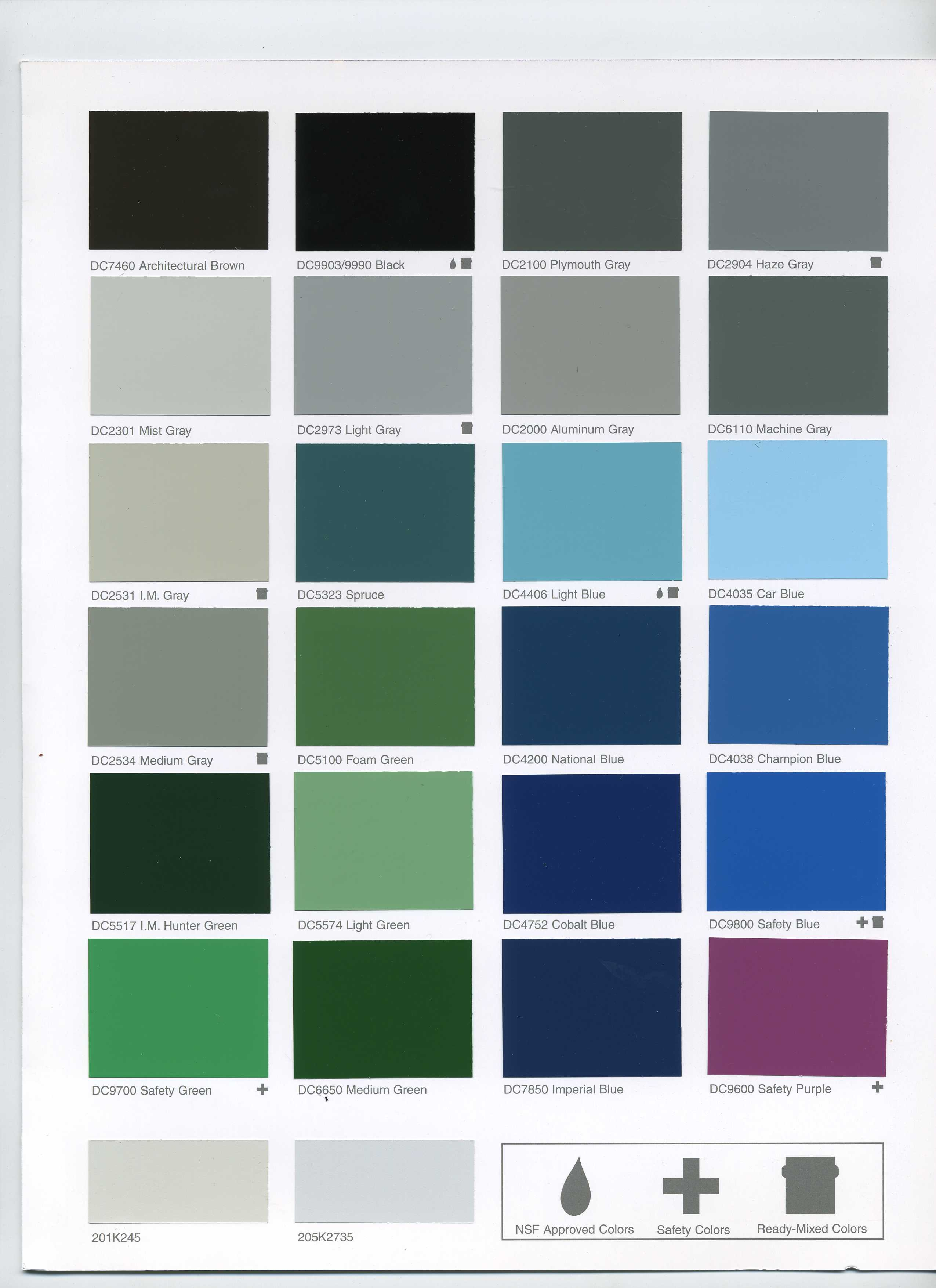 Industrial Grey Paint Dupont Imron Color Chart Pictures To Pin On Pinterest