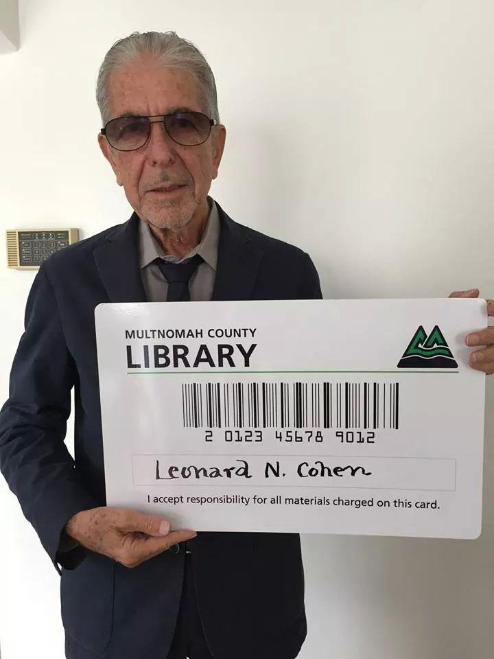 Leonard Cohen  - library card