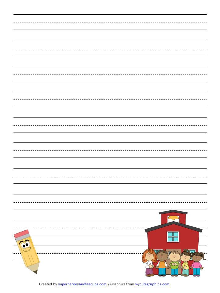 Free kids writing paper Research paper Help bvessaynqhesupervillaino - free printable handwriting paper for kindergarten
