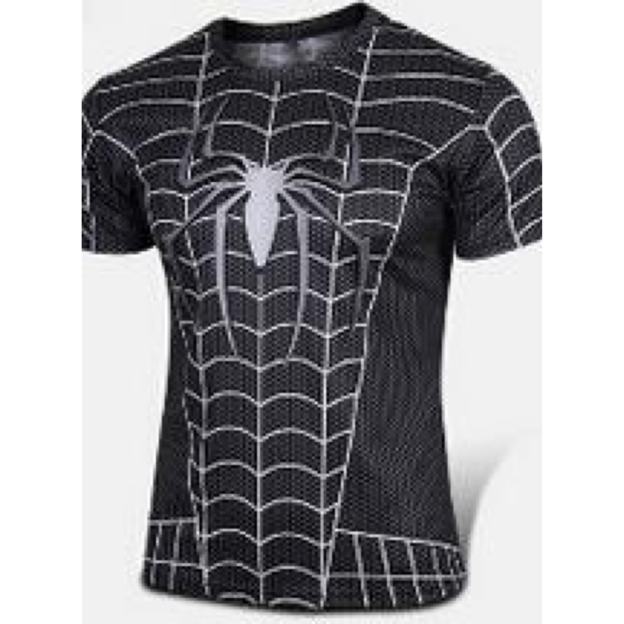Kaos Superhero Spiderman Black Dewasa