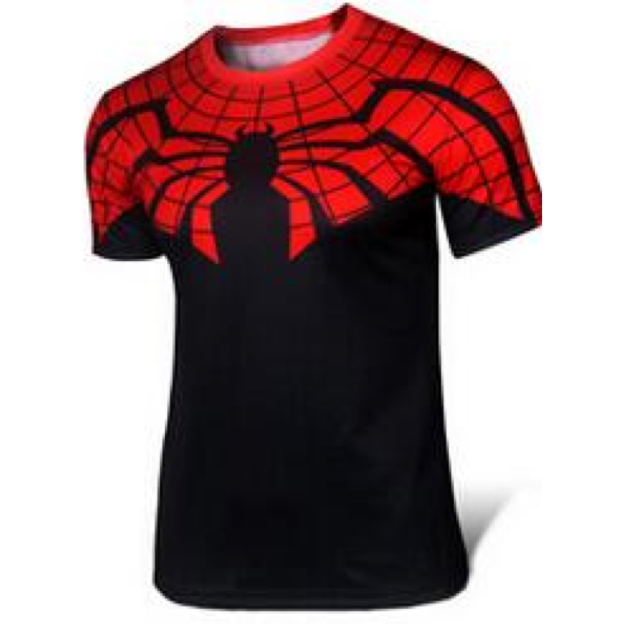Kaos Superhero Spiderman Black and Red Dewasa