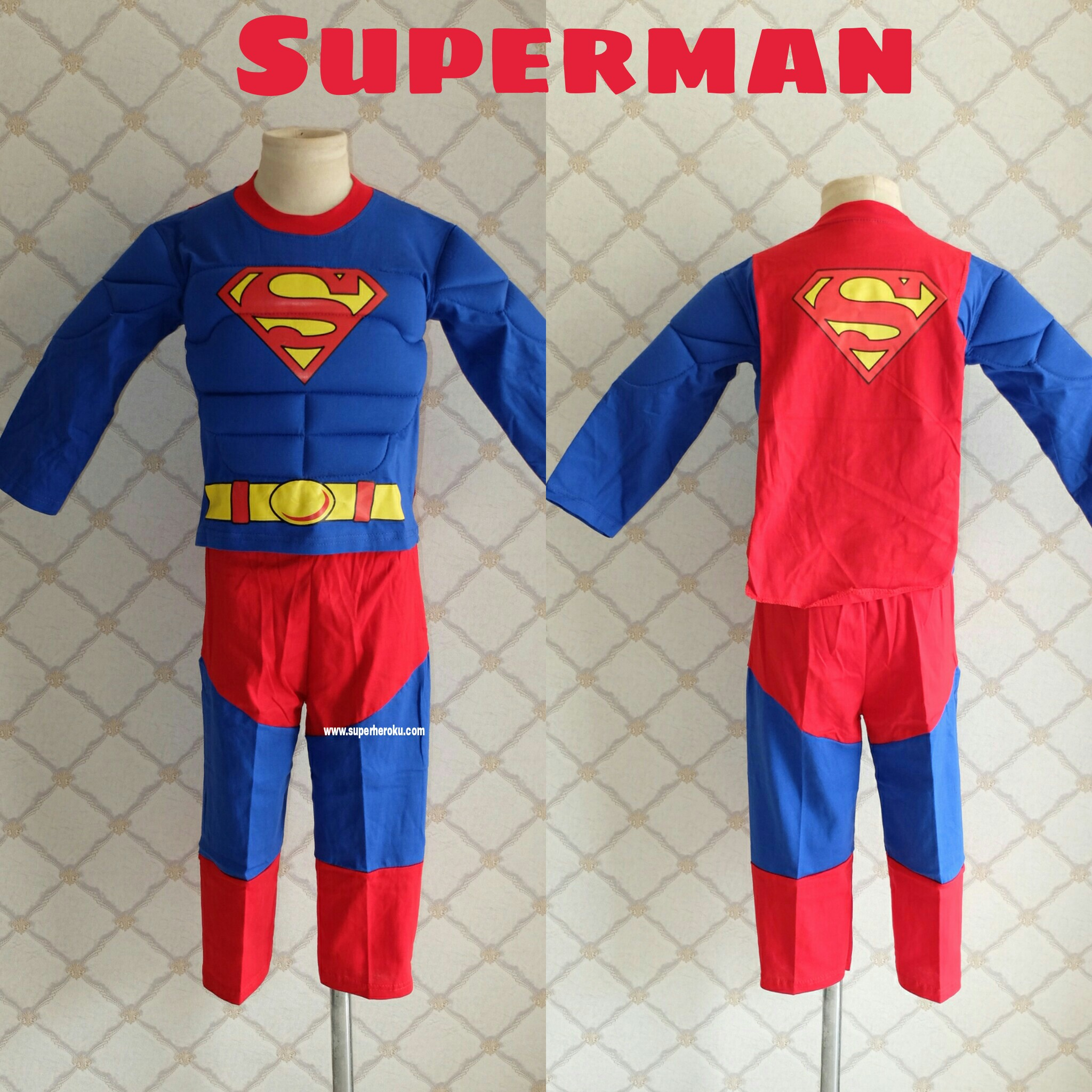 Kostum Superhero Anak Superman Muscle Otot