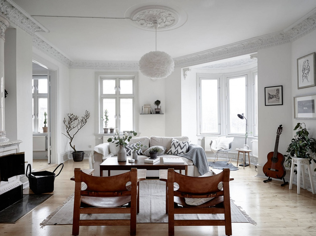 Stand Lampen Wohnzimmer Old Charming Apartment With Scandinavian Style Decor