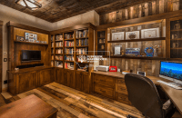 Home Office with Reclaimed Wood | Superior Hardwoods