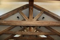 Hand Hewn Ceiling Beams for a Rustic, Historical Look