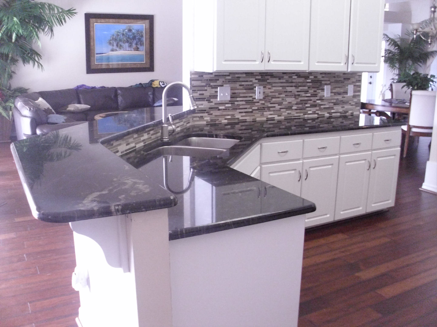 Black Titanium Granite Countertops Titanium Black W Tile Backsplash Superior Stone Design Inc
