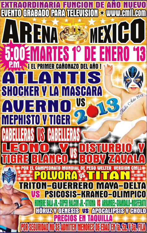 CMLL // Arena México - 1ro. de enero de 2013 / Imagen by www.cmll.com