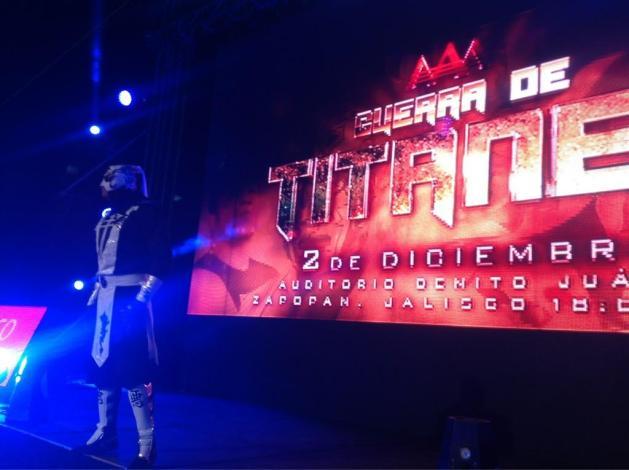 "El debut de Pentagón Jr. / AAA Guerra de Titanes 2012 – Auditorio ""Benito Juárez"" de Zapopan, Jal. – 2 de dic. de 2012 / Imagen by @Lucha_Libre_AAA en Twitter"