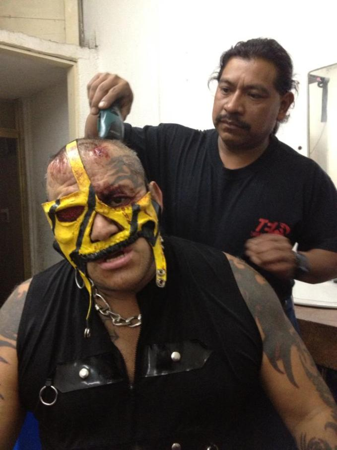 Pirata Morgan, tras perder en la Prisión Fatal / Arena Naucalpan - 17 de marzo de 2013 / Photo by Tercera Caída en Facebook