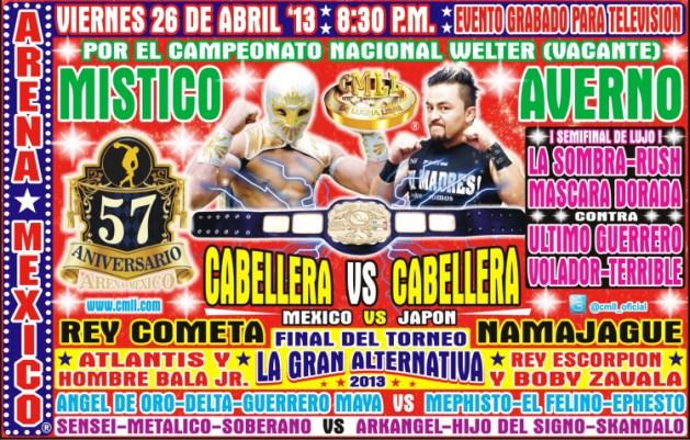 57 Aniversario de la Arena México / 26 de abril de 2013 / Image by www.cmll.com