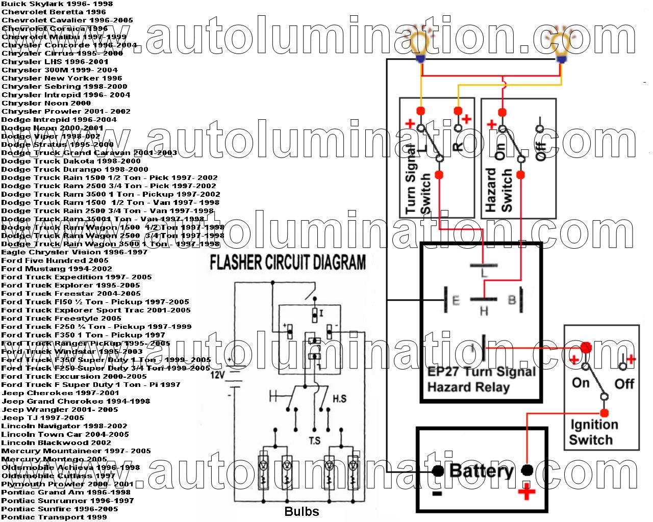 tridon el13 flasher wiring diagram