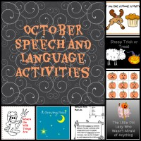 October Speech and Language Activities