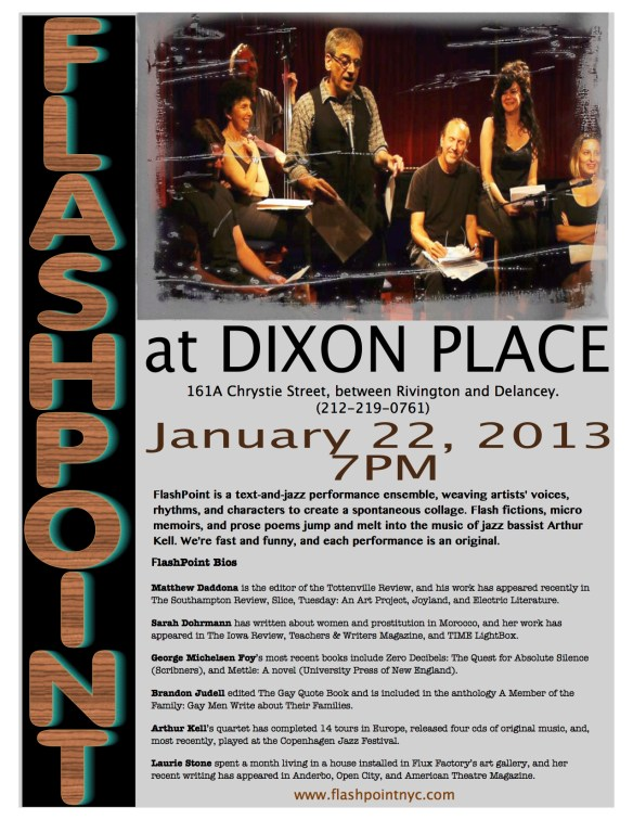 Flashpoint Dixon Place Jan 2013