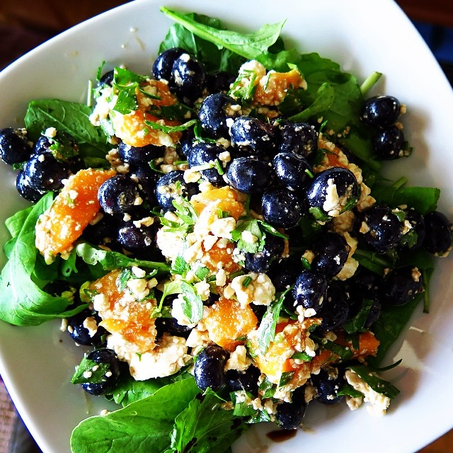 Blueberry and Feta Salad