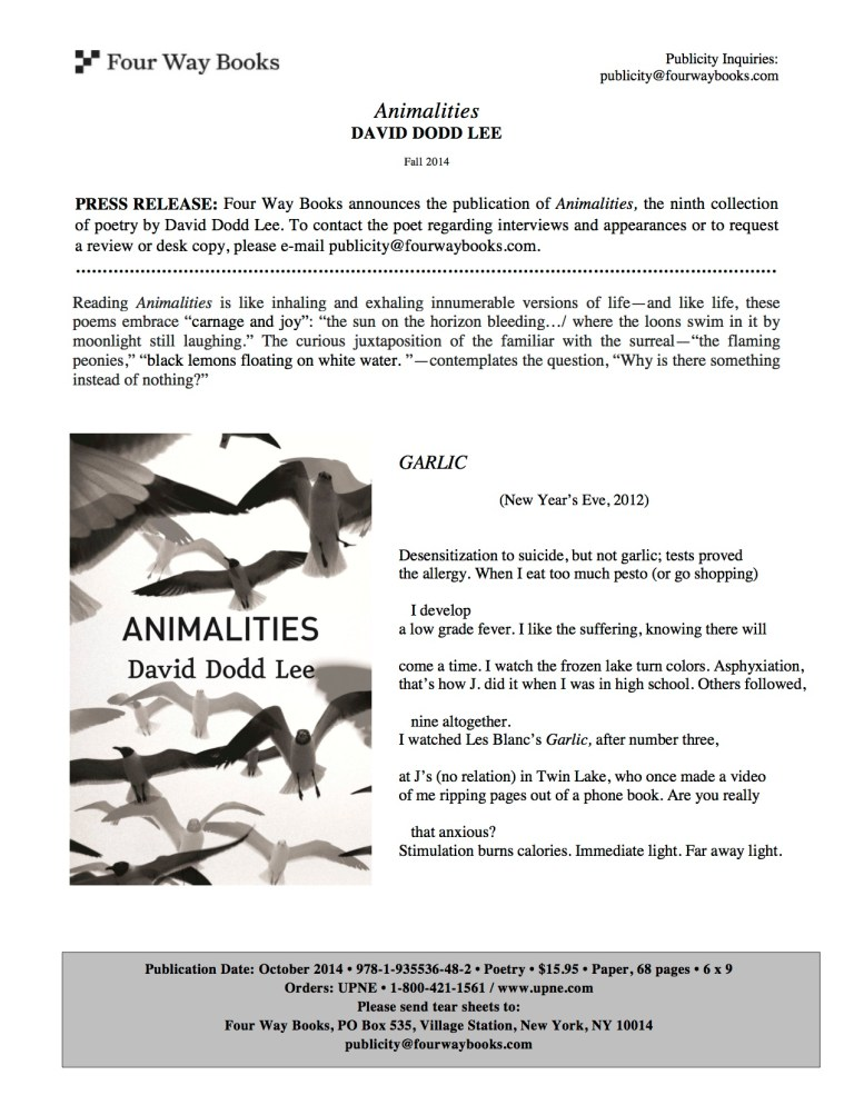 Press Release_Animalities by David Dodd Lee copy