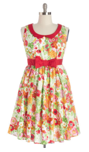 Modcloth: All the World's a Stage Dress in Garden