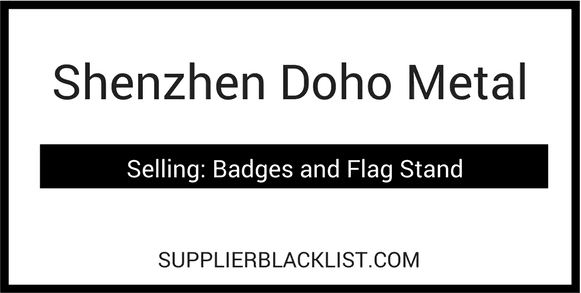 China Blacklist Suppliers Shenzhen Doho Metal Guangdong China Badges Flag Stand