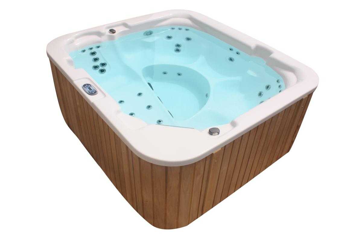 Outdoor Whirlpool Hot Tub Made In Germany Mit Heizung Ozon Led Spa Weiss Braun Ebay