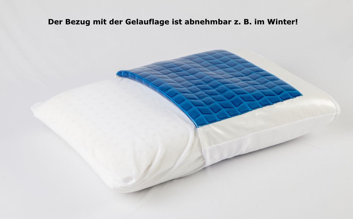 Gel Visco Pillow Gel Pillow With Gel Pad Memory Foam Aloe Vera Cover 60 X 40 X 12 Cm Supply24