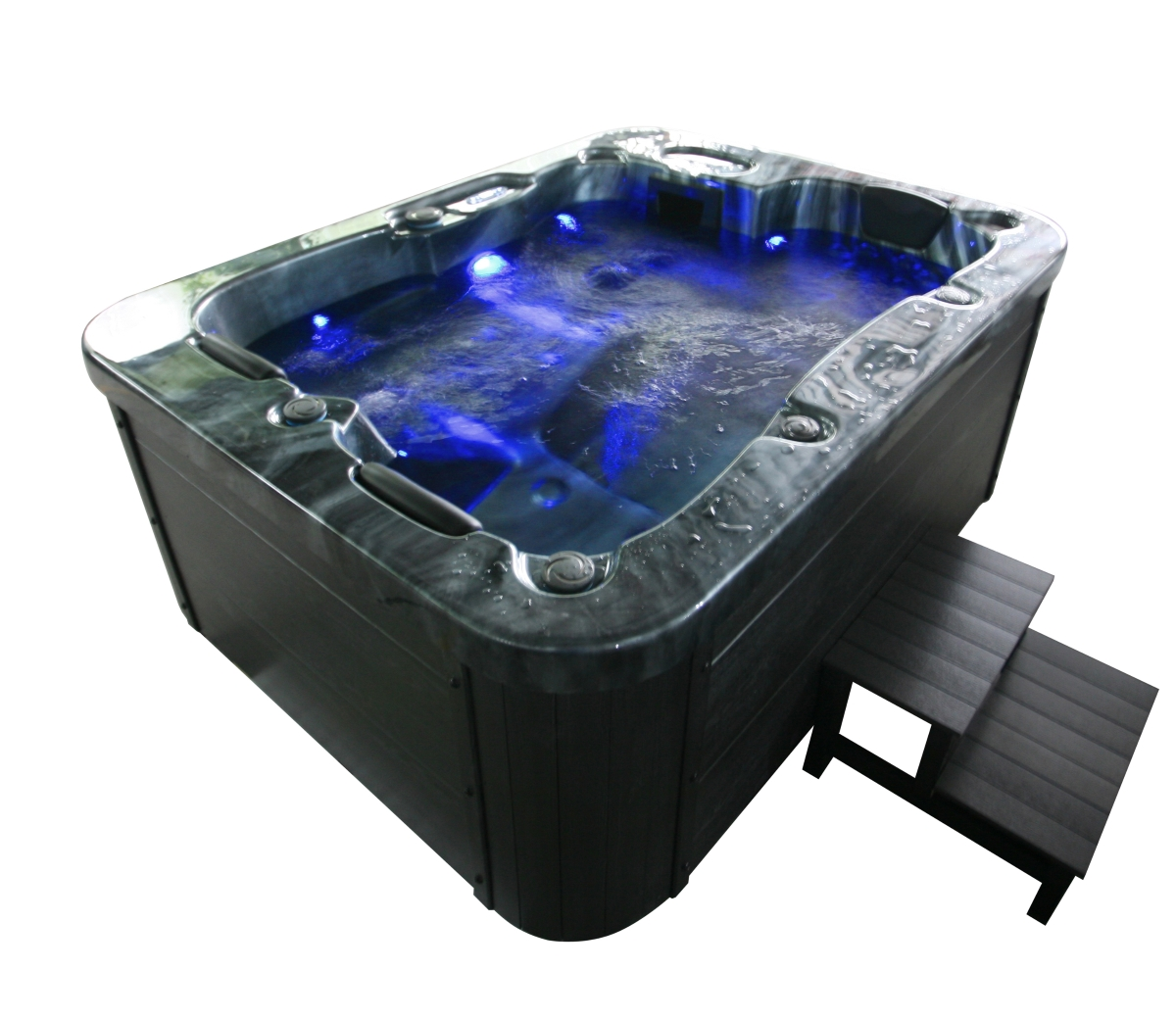 Outdoor Whirlpool Cheap Outdoor Whirlpool Spa Berlin 210x160 Cm Black With 27 Massage Jets Heating Ozone Disinfection For 3 Persons