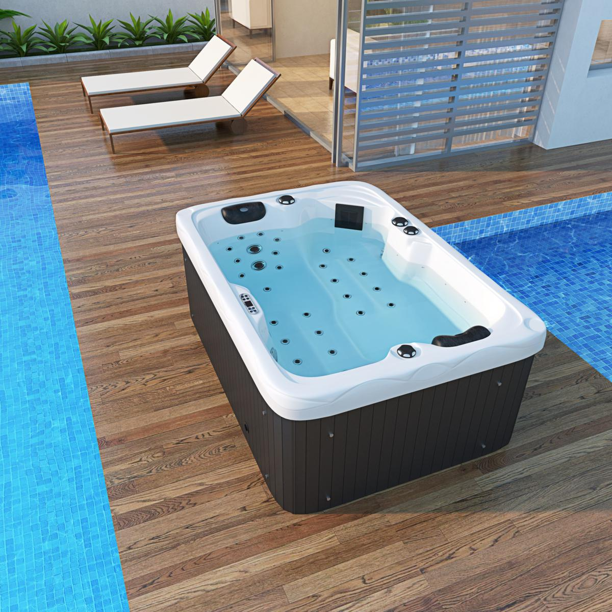 Outdoor Whirlpool Cheap Outdoor Whirlpool Spa Luzern 195x135 Cm With 41 Massage Jets Heating Ozone Disinfection For 2 Persons