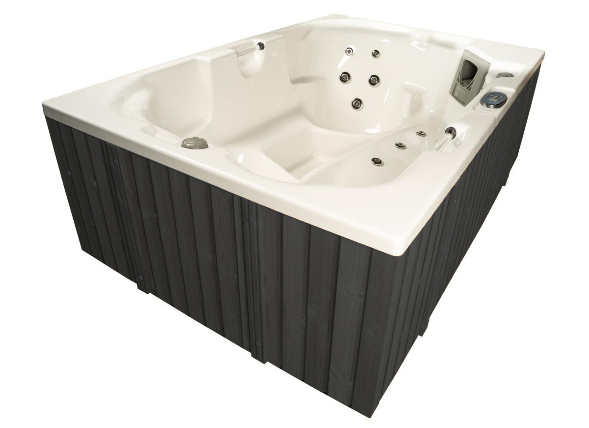 Outdoor Whirlpool Hot Tub Made In Germany Mit Heizung Ozon Led Spa Weiss Grau 3p Ebay