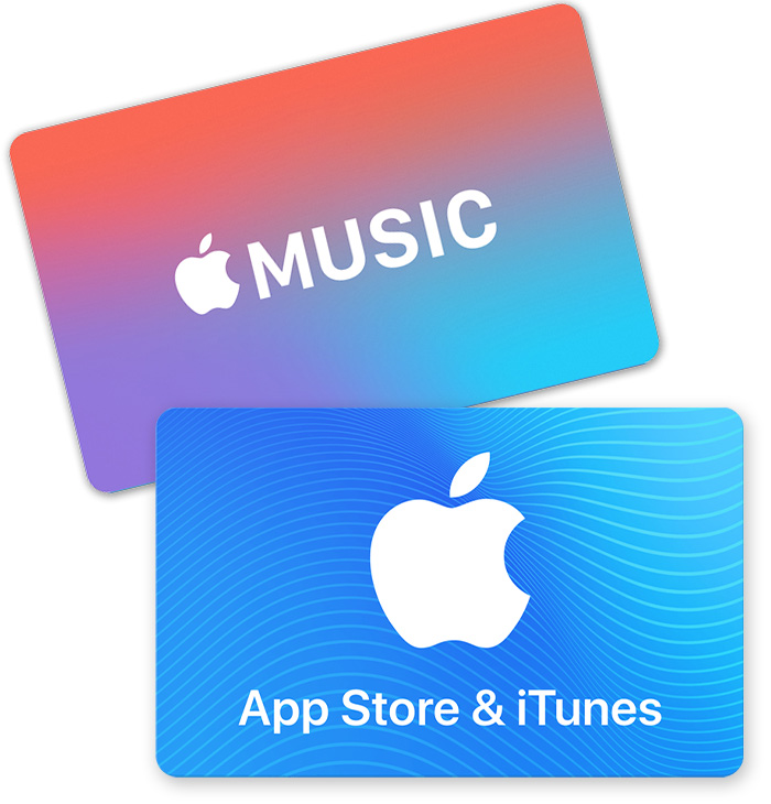 Redeem App Store  iTunes Gift Cards, Apple Music Gift Cards, and