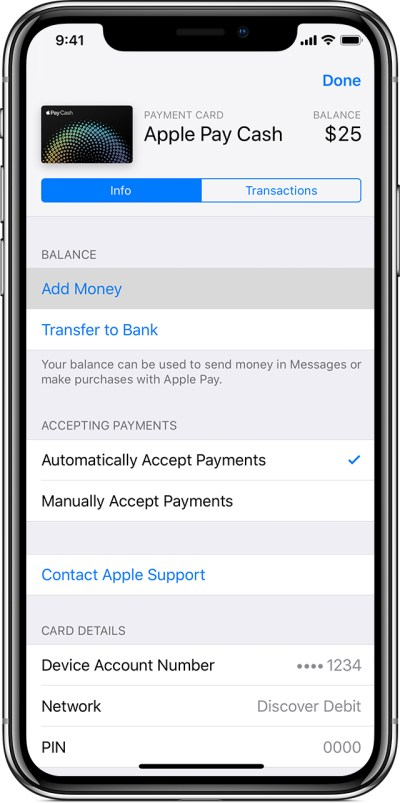 Add money to Apple Pay Cash - Apple Support