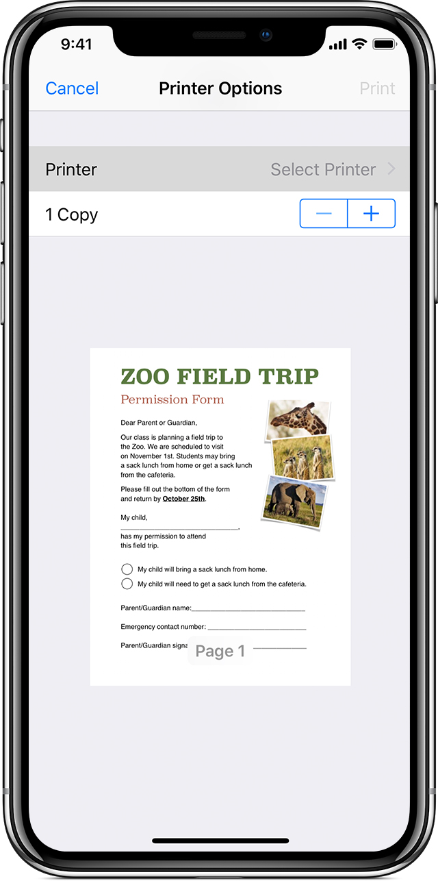 Range Document Pas Cher Use Airprint To Print From Your Iphone Ipad Or Ipod Touch