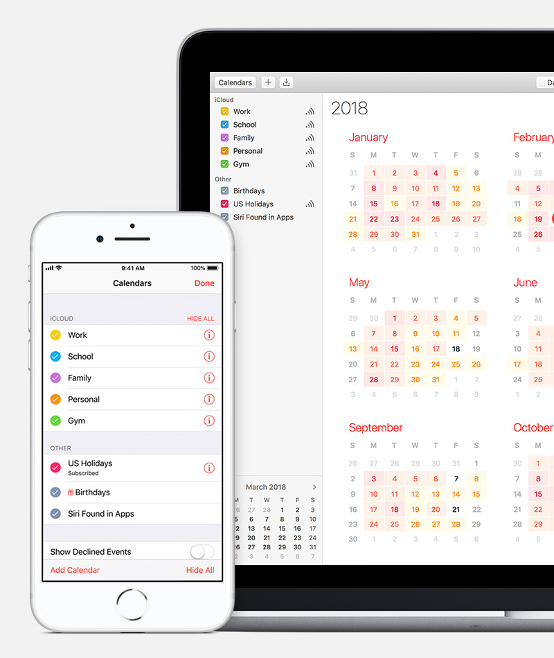 About holiday calendars on iOS and macOS - Apple Support - calender s