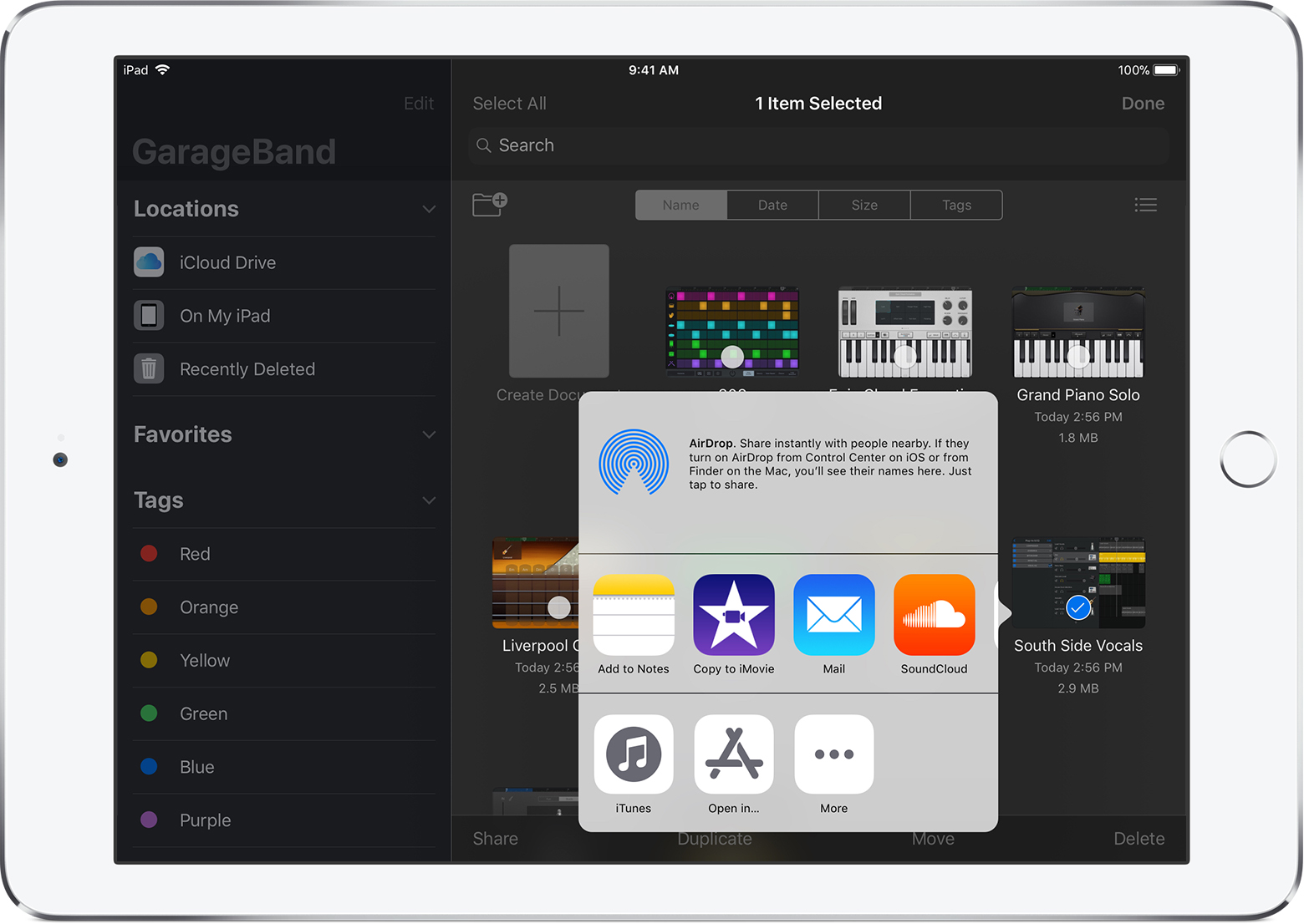 Garageband Songs Share Garageband For Ios Songs Or Music Memos To Youtube And