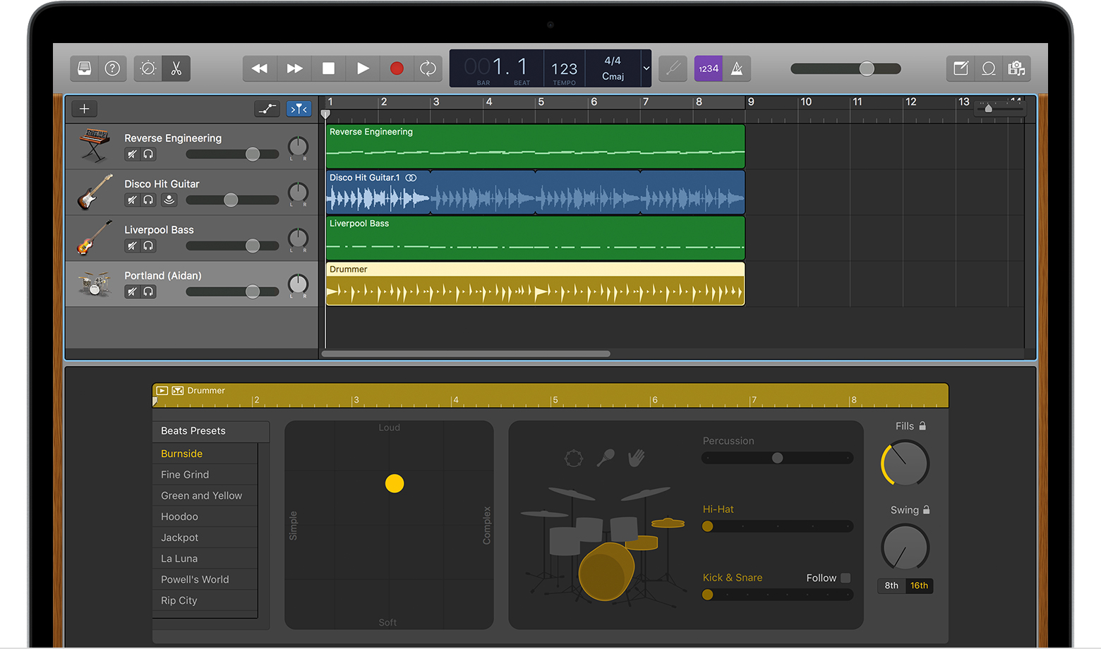 Garageband Songs Use Drummer Loops In Garageband For Mac Apple Support