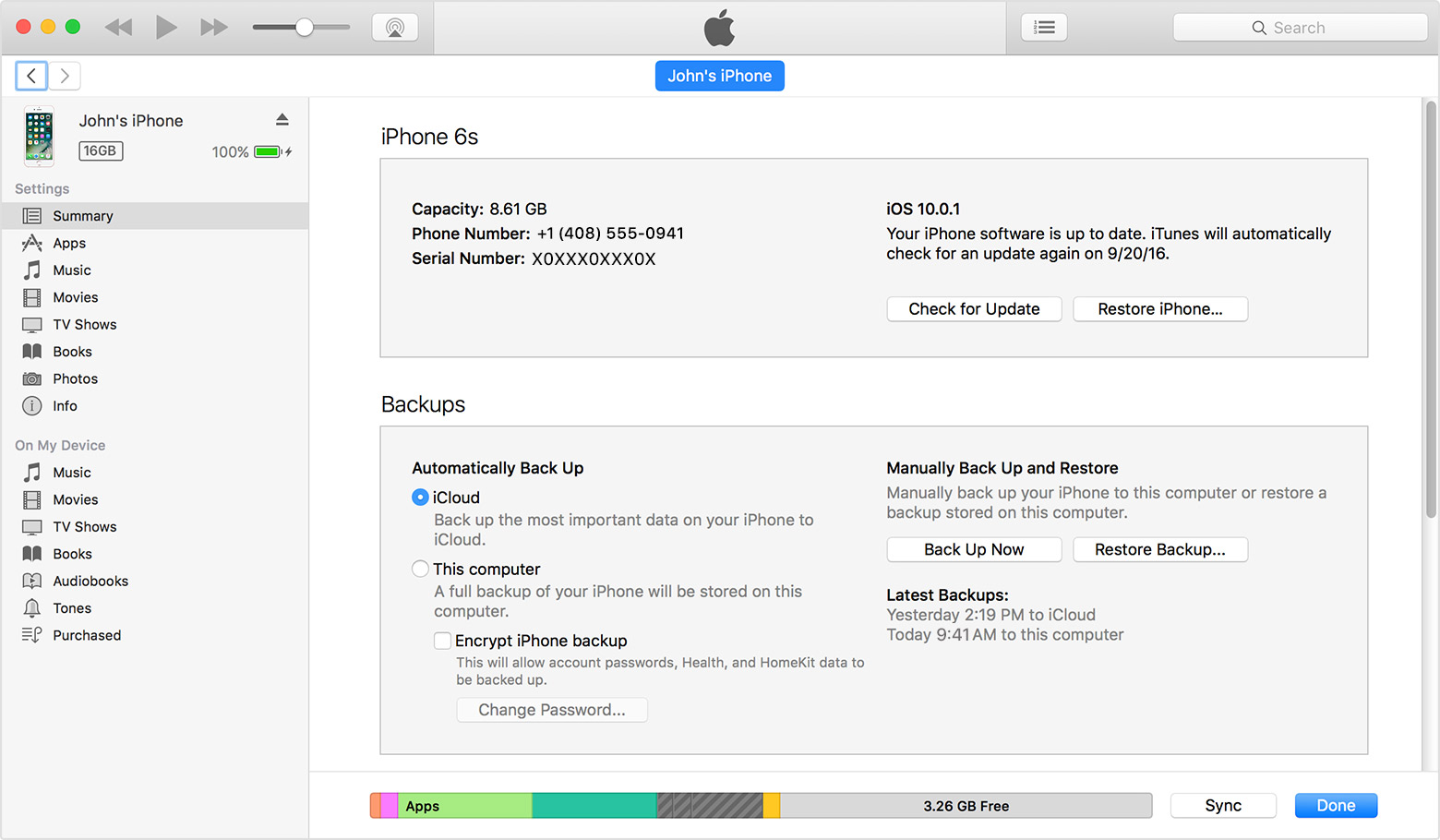 Make an itunes backup of your iphone ipad or ipod touch