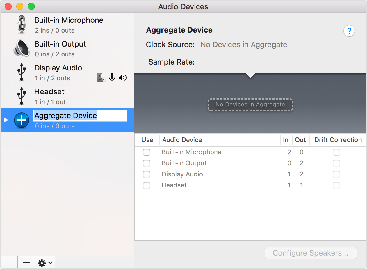 Garageband Na Pc Combine Multiple Audio Interfaces By Creating An Aggregate Device