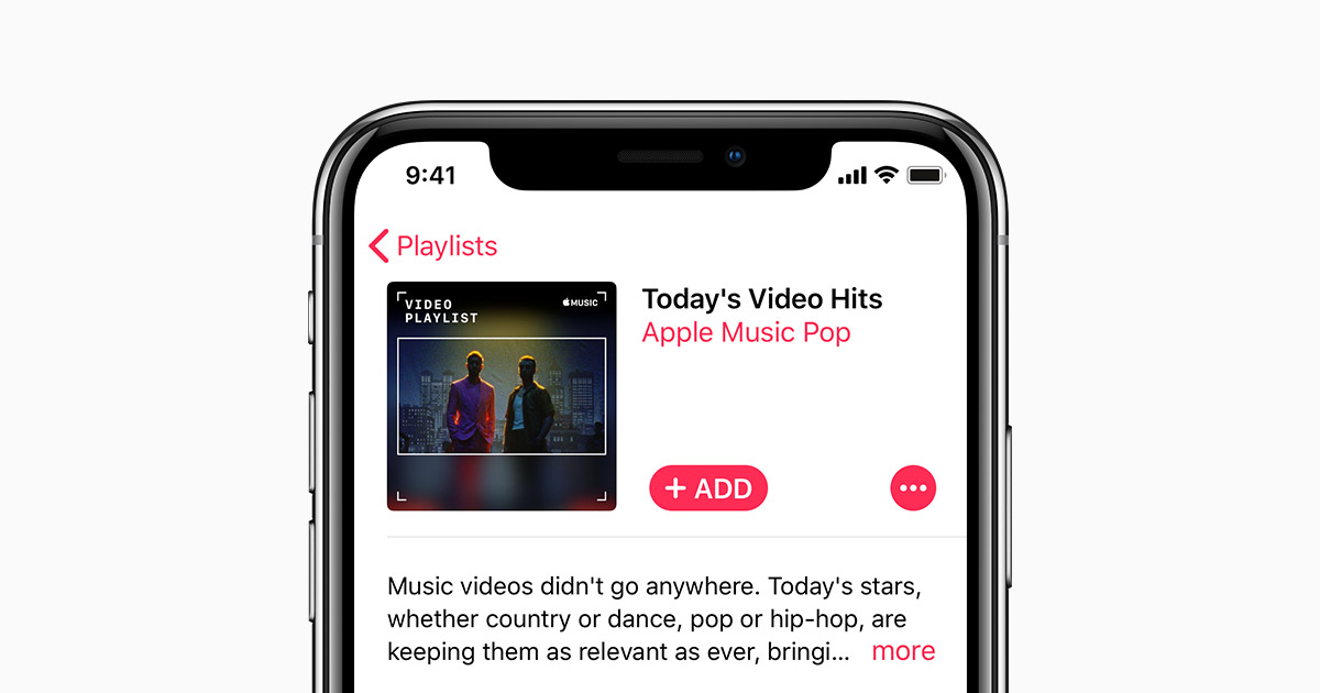 Add and download music and video content from the Apple Music