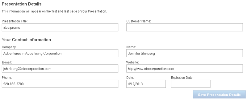 QS - ESP Web Presentations Customizing Your Template