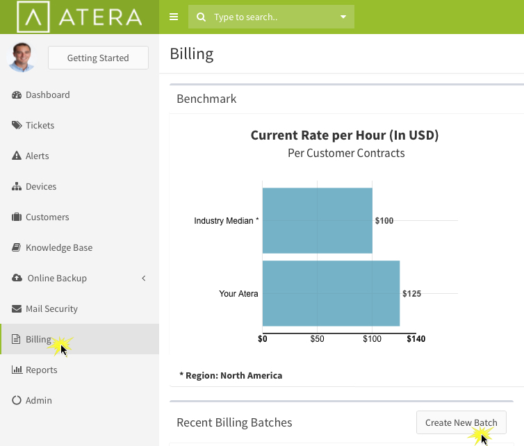 Create a Monthly Billing/Invoice Batch \u2013 Atera Support