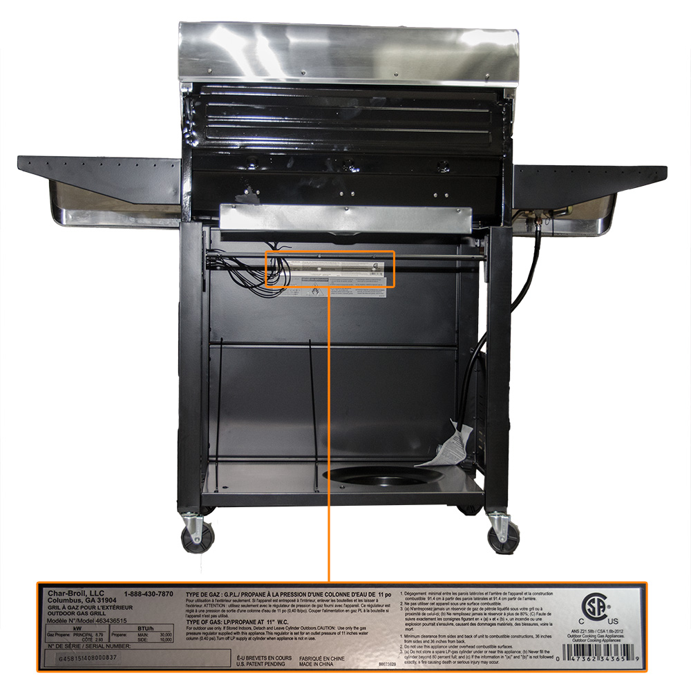 Barbecue Exterieur Parts Find My Model Number Char Broil