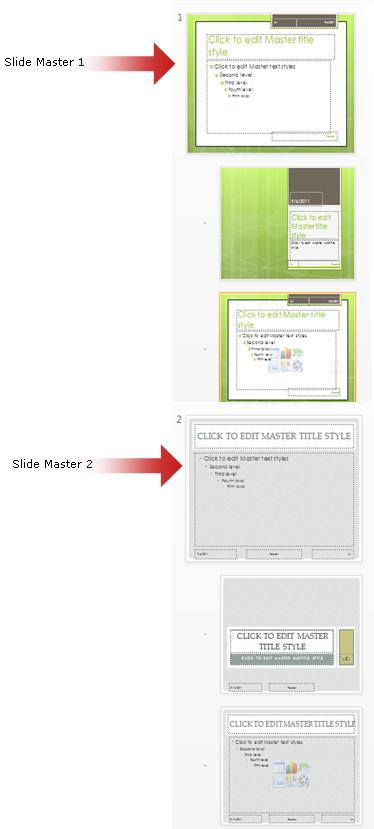 Use multiple slide masters in one presentation - PowerPoint