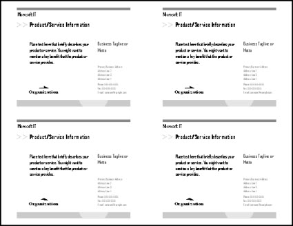 Print multiple postcards on a single sheet in Publisher - Publisher - Microsoft Word Postcard Template