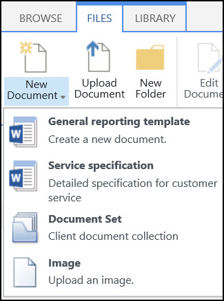 Create or customize a site content type - Office Support - create document template