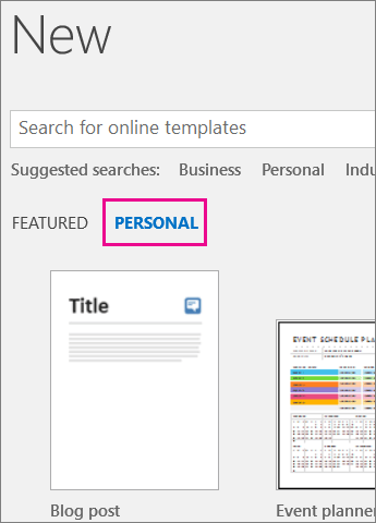 Set default powerpoint template office 2010 ltt personal tab showing your custom template after you click file new toneelgroepblik Images