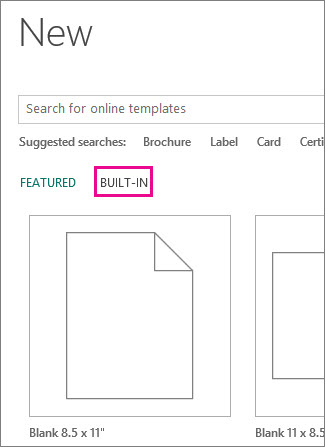 Find brochure templates in Publisher - Publisher