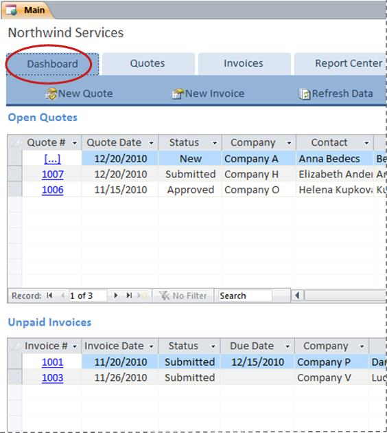 Turn quotes into paid invoices by using the Services Web Database