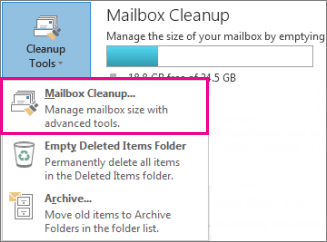 Manage My Mailbox Size Outlook