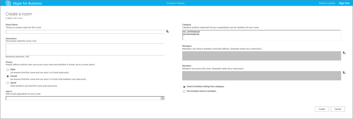 Create and manage a Skype for Business chat room - Skype for Business
