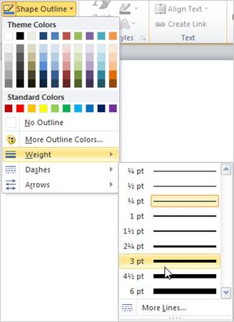 Change the color, style, or weight of a line - Office Support